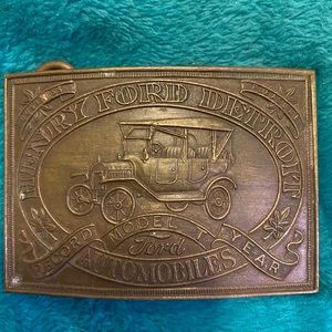 Vintage Henry Ford Tiffany Co. Model T Belt Buckle